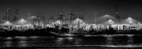Hafenansicht bei Nacht