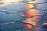 Spiegelung im Eis